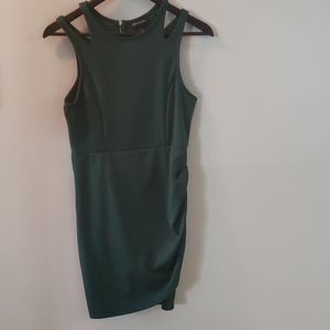 💙 5 for $20-Seduction forest green party dress
